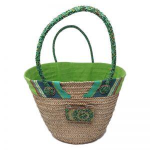 Straw bag - Light Green Zanzibar Design